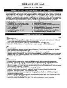 resume for desktop support desktop support engineer resume template premium resume