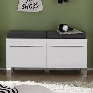 Petit Meuble A Chaussure : meuble chaussures avec coussins 2 portes pour entr e ~ Teatrodelosmanantiales.com Idées de Décoration