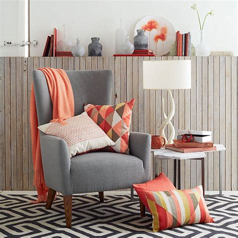 Coral Color Bedroom Accents by 5 Easy Living Room Makeover Ideas
