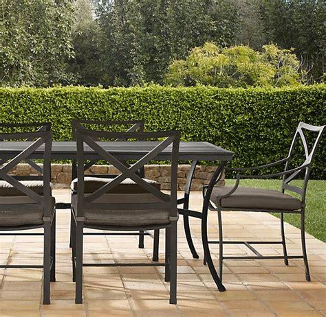 Metal Patio Furniture Restoration by 72 Quot Rectangular Dining Set Painted Metal Set Of