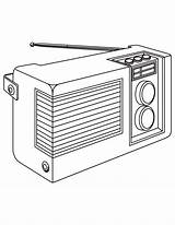 Radio Coloring Pages Template sketch template