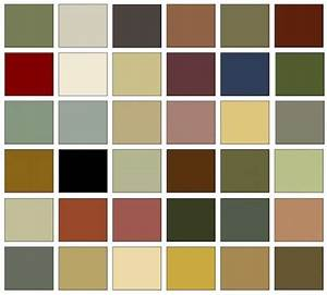 Arts and Crafts colors are a harmonious palette taken from