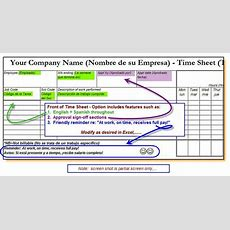 English + Spanish Timesheets For Construction Companies  Build Your Numbers