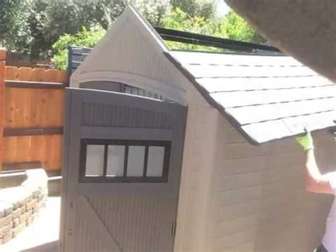 Roughneck 7x7 Shed by Rubbermaid 7x7 Roughneck Shed Time Lapse Build