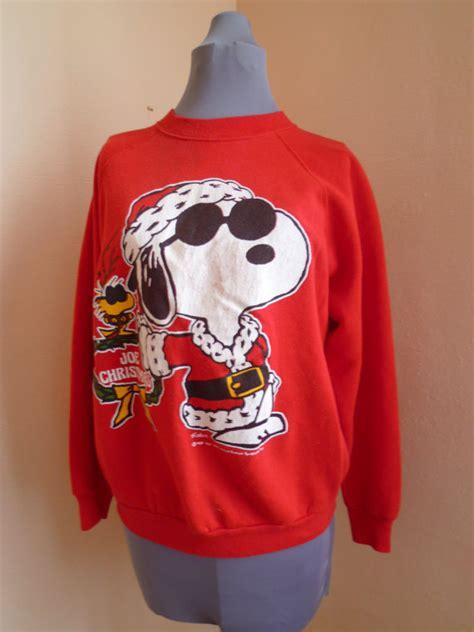snoopy sweater vintage snoopy sweatshirt large sweater