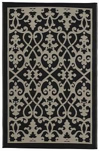 Outdoor Teppich Schwarz Weiß : garten im quadrat outdoor teppich venedig ranken schwarz wei ~ Frokenaadalensverden.com Haus und Dekorationen