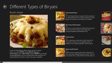 types  biryani recipes windows app pyroso