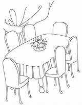 Dining Table Coloring Clipart Pages Drawing Dinner Kitchen Cliparts Clip Drawings Printable Library Furniture Getdrawings Quilt sketch template