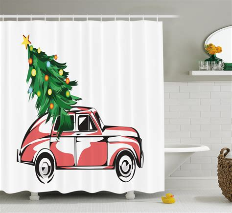 Retro Bathroom Wall Decor by Shower Curtain Retro Car Tree Bathroom Decor