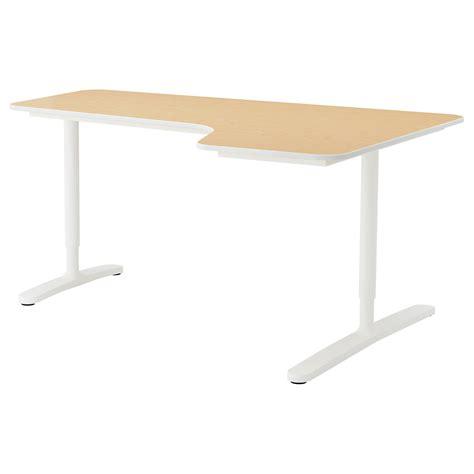 ikea office desk white bekant corner desk right birch veneer white 160x110 cm ikea