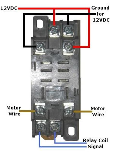 Volt Double Pole Throw Relay Quick Connect Socket