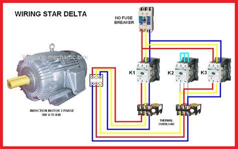 electrical page delta y δ motor connection diagram