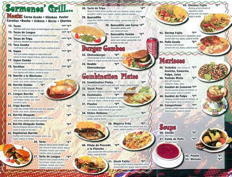 sermenos restaurant menu los angeles dineries
