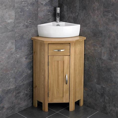 ohio en suite corner bathroom cabinet oak vanity unit