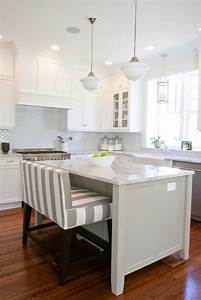 Striped island bench transitional kitchen benjamin for Kitchen colors with white cabinets with overstock metal wall art