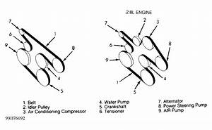 1993 Gmc Suburban Serpentine Belt Routing And Timing Belt