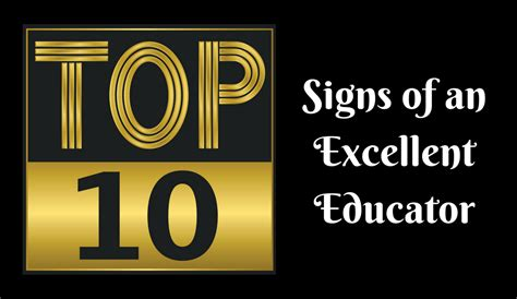 10 Signs Of An Excellent Educator  The Excellent Educator