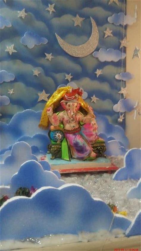 Garden Decoration For Ganpati by Ganpati Decoration Ideas At Home Ganesh Pooja Decoration