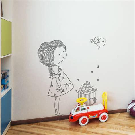 citation cuisine amour stickers muraux chambre enfant l 39 oiseau et la fille
