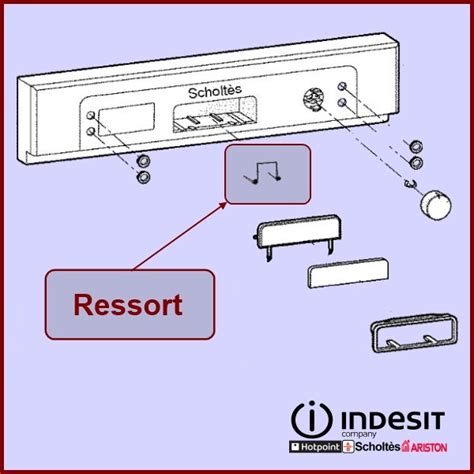 ressort poignee de porte ressort de poign 233 e indesit c00094966 pour poignee de porte lave vaisselle lavage pieces