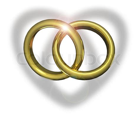 golden wedding rings linked  stock image colourbox