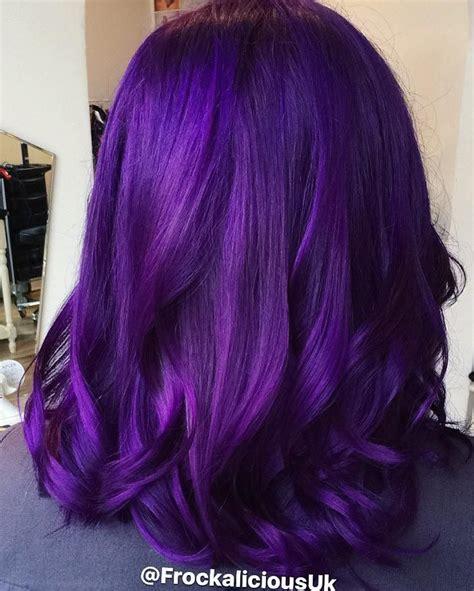 hairstyles   fashionable shade  purple