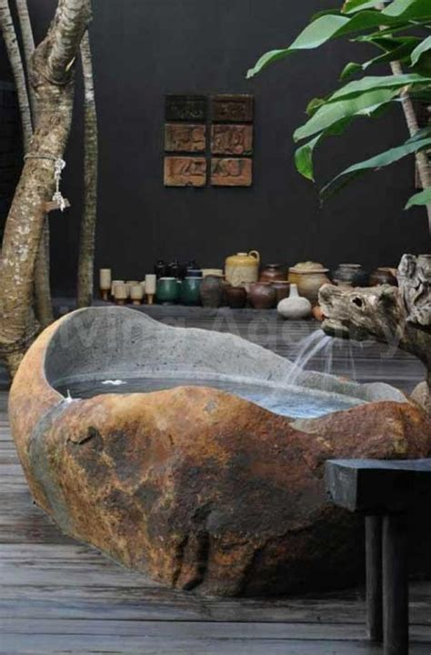 natural stone bathtub ideas   classy bathroom