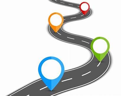 Transparent Road Journey Clipart Vector Background Path