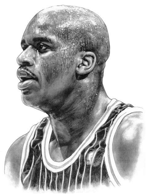 Shaq O'neal Drawing by Harry West