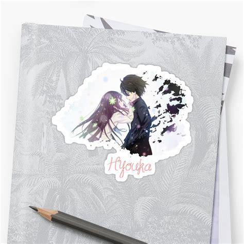 hyouka oreki houtarou chitanda eru sticker by shizazzi
