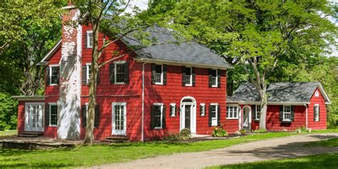 red houses for sales country listings