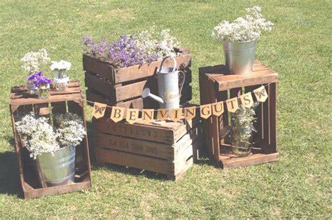 decoracion  cajas de madera cajas de fruta boda