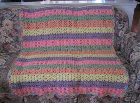 afghan stitch shell stitch variation afghan allfreecrochetafghanpatterns com