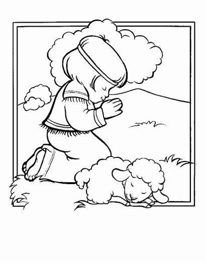 Coloring Pages Shepherd David Boy Psalm Bible