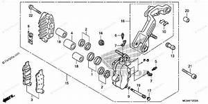 Honda Motorcycle 2008 Oem Parts Diagram For Left Front Brake Caliper