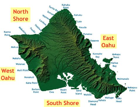 Topographic Map Oahu.Best Oahu Map Ideas And Images On Bing Find What You Ll Love