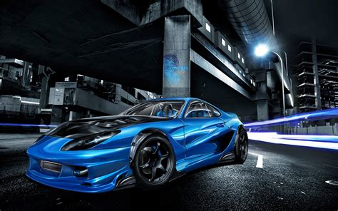 Fondo Pantalla Tuning Car Blue
