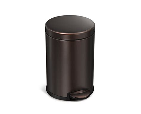 Bronze Bathroom Trash Can With Lid by Simplehuman 4 5l Bronze Stainless Steel Step