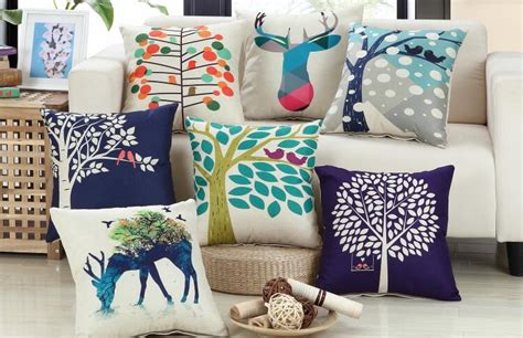 home goods pillows country style tree decorative pillow for sofa linen home