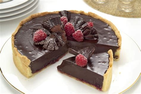 the 50 most delicious chocolate desserts chocolate and raspberry tart goodtoknow