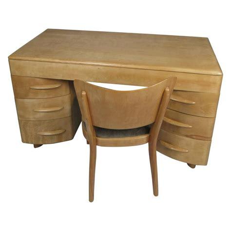 heywood wakefield desk vintage 1950s birch kneehole desk and chair by heywood