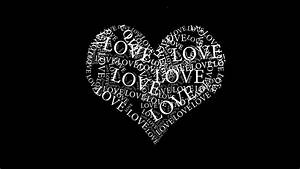 Black And White Heart - Love Wallpaper