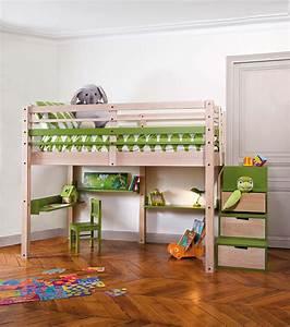 Lit Superposé Escalier : lits mezzanines modulable ~ Premium-room.com Idées de Décoration