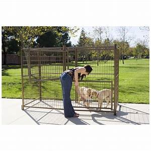 Advantekr 4x839 outdoor dog kennel 300958 kennels beds for Dog kennel clearance