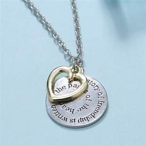 two side disc engraved letter bff best friend jewelry gift With engraved letter necklace
