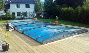 Pool Mit überdachung : super flache berdachung mit sicherheitsglas von v roka ~ Michelbontemps.com Haus und Dekorationen