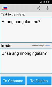 Filipino Cebuano Translator - Android Apps on Google Play