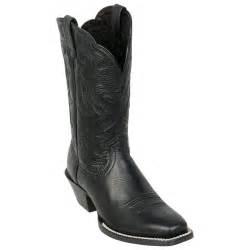 womens boots black 39 s ariat 11 quot legend boots black deertan 216126 cowboy boots at