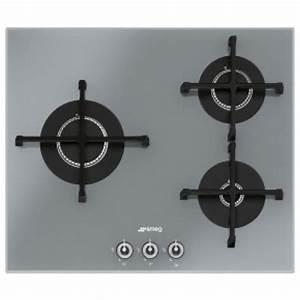 Plaque De Cuisson 3 Feux Gaz : smeg pv163s table de cuisson 60 cm 3 feux gaz ~ Voncanada.com Idées de Décoration