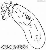 Cucumber Coloring Pages Colorings sketch template